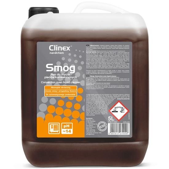 Skuteczny silny płyn do mycia pieców konwekcyjno-parowych wędzarni CLINEX Smog 5L
