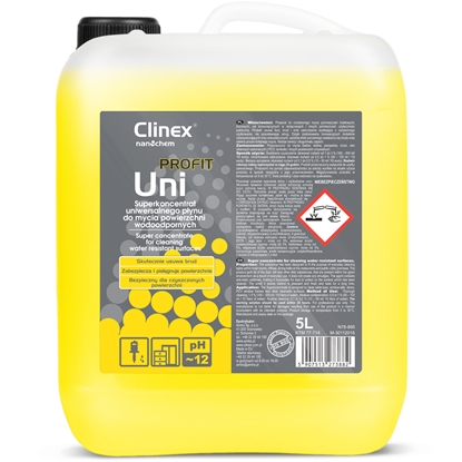 Wydajny koncentrat do mycia pomieszczeń hotelowych biurowych sal konsumpcyjnych CLINEX PROFIT Uni 5L