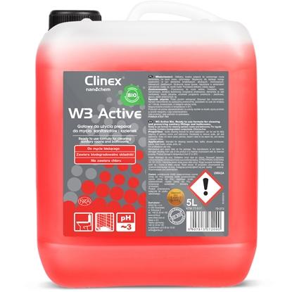 Środek płyn do mycia sanitariatów i łazienek na bazie kwasu cytrynowego CLINEX W3 Active BIO 5L