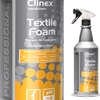 Pianka do prania czyszczenia usuwania plam z dywanów mebli i tapicerki CLINEX Textile Foam 1L