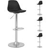 Hoker stołek krzesło barowe obrotowe tapicerowane 4 szt. czarne