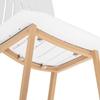 Krzesło skandynawskie plastikowe nowoczesne do jadalni ze stalowymi nogami 2 szt. białe