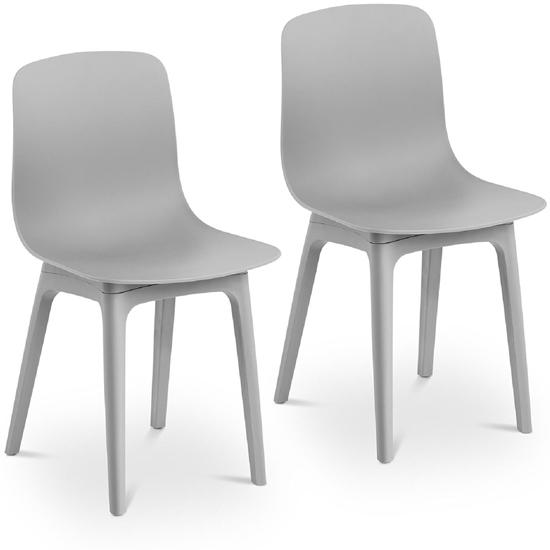 Krzesło skandynawskie plastikowe nowoczesne do 150 kg 2 szt. szare