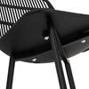 Krzesło plastikowe nowoczesne z ażurowym oparciem do 150 kg 4 szt. czarne