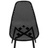 Krzesło skandynawskie plastikowe ażurowe ze stalowymi nogami do 150 kg 4 szt. czarne