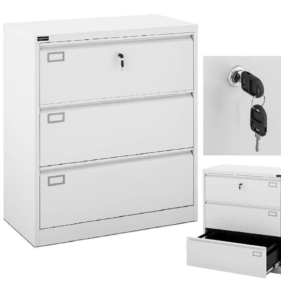 Szafa biurowa na dokumenty akta z 3 szufladami metalowa 45 x 90 x 102 cm