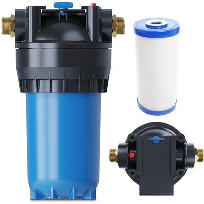 Filtr do uzdatniania wody wstępny przepływowy z węglem aktywnym 10 l / min 30000 l