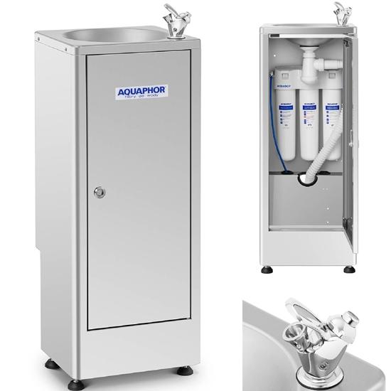 Dystrybutor do wody fontanna z 3-stopniową filtracją ze stali 84 x 30 x 84 cm