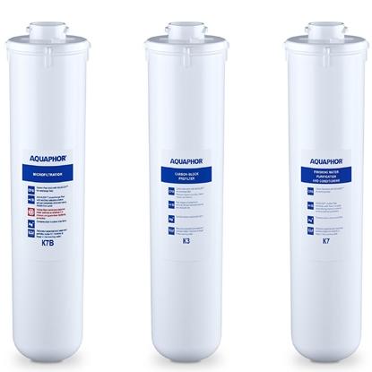 Wkłady do filtra podzlewowego K3 K7 K7B - zestaw 3 szt.