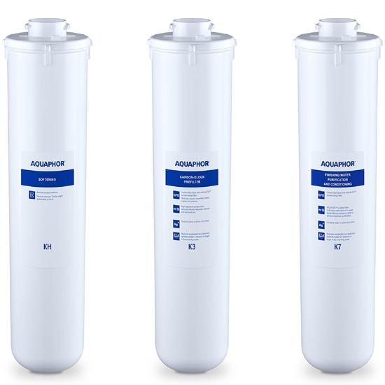 Wkłady do filtra podzlewowego  K3 KH K7 - zestaw 3 szt.