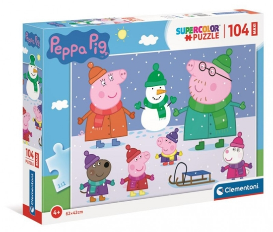 Puzzle 104 elementy Maxi Świnka Peppa (GXP-769033)