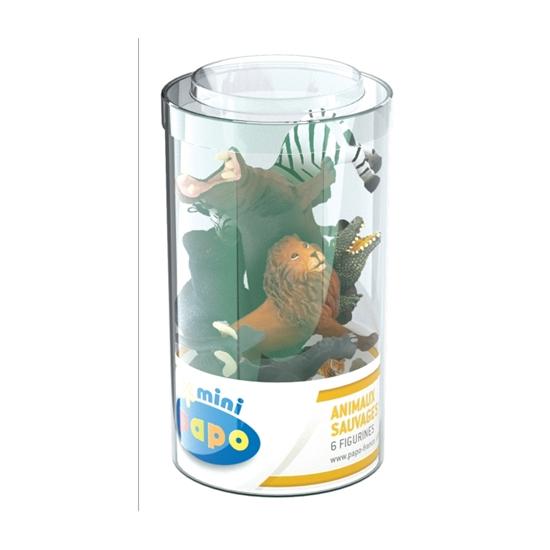 Papo 33020 Mini Plus Zwierzęta dzikie zest.1 -6szt.tuba
