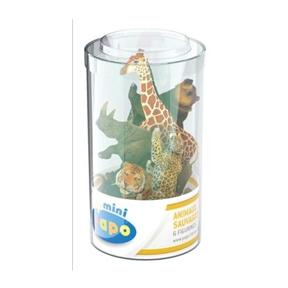 Papo 33021 Mini Plus Zwierzęta dzikie zest.2 -6szt. tuba