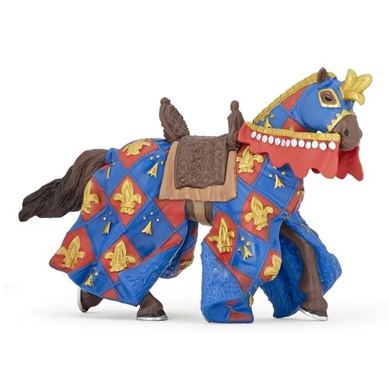 Papo 39787 Koń w niebieskiej szacie w lilie 15x6x9cm
