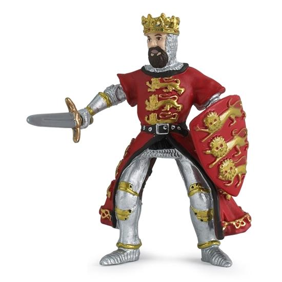 Papo 39338 Król Ryszard czerwony 6x3,4x8,3cm