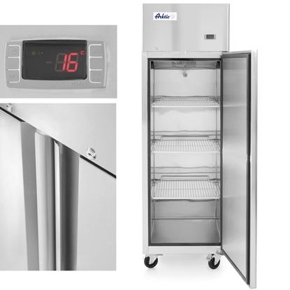Szafa chłodnicza lodówka gastronomiczna 1-drzwiowa Profi Line 410L - Hendi 233108