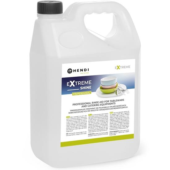 Płyn nabłyszczacz do płukania i nabłyszczania naczyń w zmywarkach gastronomicznych 5L - Hendi 975022