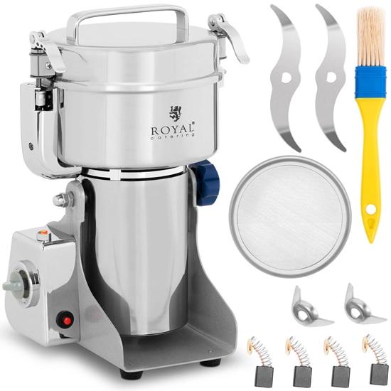 Młynek profesjonalny elektryczny do przypraw ziół kawy orzechów 800g 2400 W