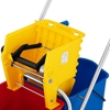 Wózek do mycia podłóg z prasą wyciskarką do mopa dwa wiadra 2 x 24 l