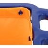 Wózek serwisowy z półkami uchwytem na mopa i torbą na pranie