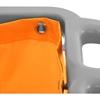 Wózek serwisowy z półkami uchwytem na mopa i torbą na pranie + pokrywa