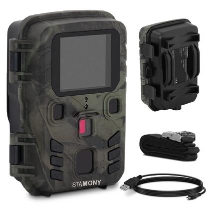 Fotopułapka kamera leśna z czujnikiem ruchu 5MP F-HD IR LED LCD 2'' 20 m