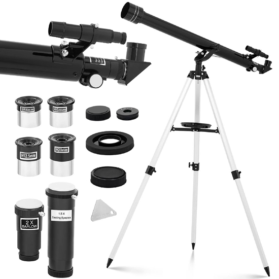 Teleskop refraktor astronomiczny soczewkowy 900 mm f/15 śr. 60 mm