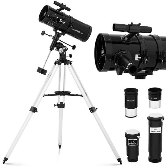 Teleskop astronomiczny Newtona Uniprodo 1400 mm śr. 150 mm