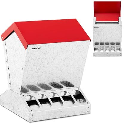 Karmidło karmnik dla kur drobiu zsypowy automatyczny 12 kg 10 otworów