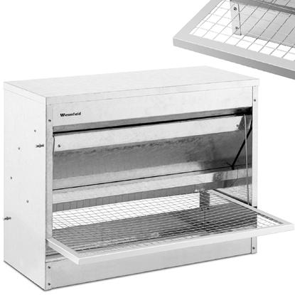 Karmidło karmnik dla kur drobiu zsypowy automatyczny 11.5 kg dla kur od 740 g