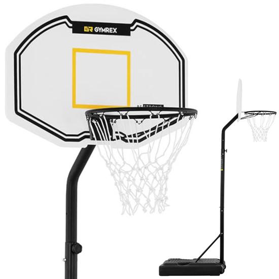 Zestaw kosz do koszykówki mobilny regulowany na stojaku wys. 190-260 cm
