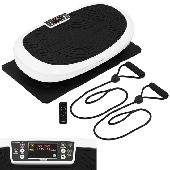 Platforma mata wibracyjna do ćwiczeń fitness z pilotem i linkami 7 funkcji do 120 kg