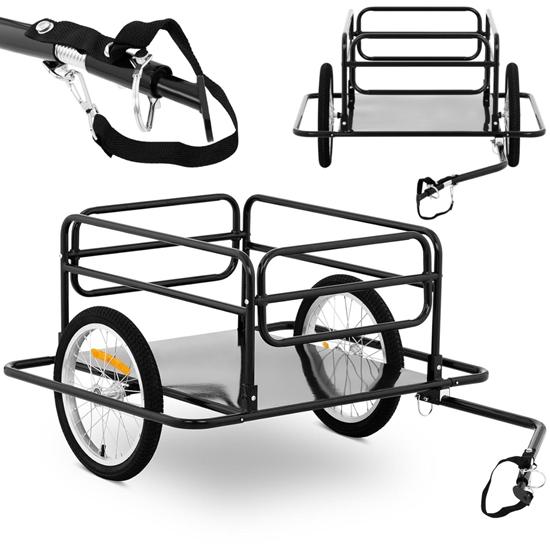 Przyczepa rowerowa wózek transportowy składany do 50 kg
