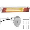 Lampa grzewcza tarasowa promiennik podczerwieni ścienny 2000 W