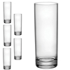 Szklanka wysoka CORTINA 215ml - zestaw 6szt.