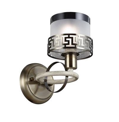 Altalusse Kinkiet INL-6148W-01 Antique Brass & Ivory