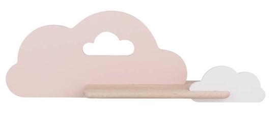 Kinkiet LED 5W dla dziecka biało-różowa chmurka z półką Cloud Candellux 21-75703