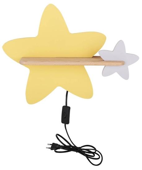 Star Lampa kinkiet ścienny 5W IQ Kids z przewodem z wł. i wtyczką Candellux 21-75734