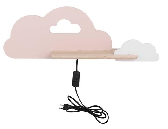 Lampka kinkiet półeczka LED 5W Cloud Kids różowy+biały 21-75741