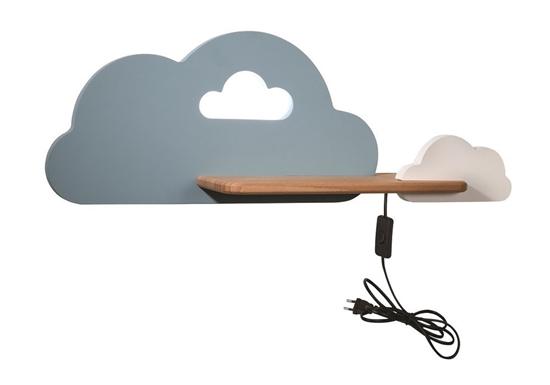 Lampka kinkiet półeczka LED 5W Cloud Kids Niebieski+biały 21-84415