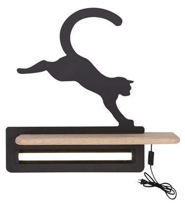 Lampka kinkiet śLED 5W Cat Kids czarny 21-84439