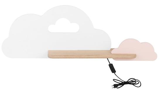 Lampka kinkiet półeczka LED 5W Cloud Kids Biały+różowy 21-84422