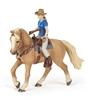 Papo 51566 koń z kowbojką  10x16x19cm (PAPO 51566)