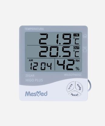 HIGROMETR z funkcją termometru wewnętrznego, zewnętrznego i zegara MM-778 HIGO PLUS