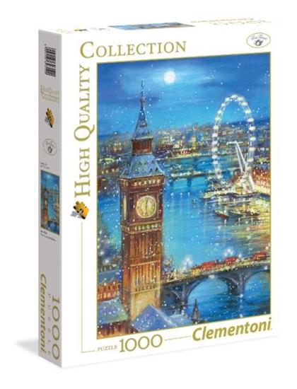 Clementoni Puzzle 1000el Płatki śniegu na Big Ben 39319 (39319 CLEMENTONI)