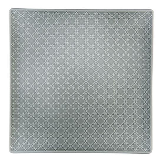 Talerz płytki kwadratowy 30,5 cm Marrakesz LB84