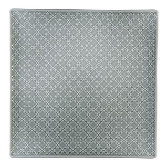 Talerz płytki kwadratowy 25,5 cm Marrakesz LB84