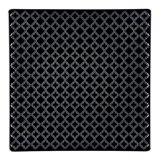Talerz płytki kwadratowy 25,5 cm Marrakesz LB86