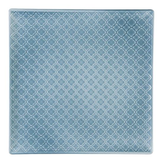Talerz płytki kwadratowy 30,5 cm Marrakesz LB87