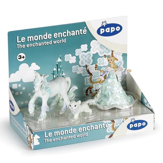 Papo 80506 Displey Lodowej królowej -3 fig. 24x13x19cm